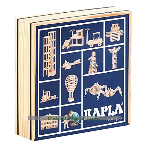 Kapla El mágico Tablero 100 Piezas de Tapa Azul.