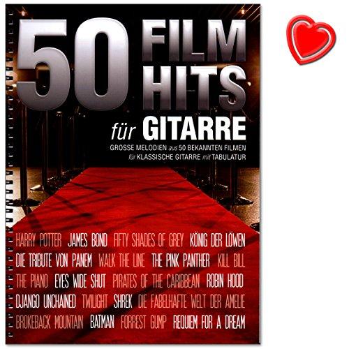 50 Filmhits für Gitarre - 50 der populärsten und mitreißendsten Songs und Themen aus bekannten Filmen - Songbook für klassische Gitarre mit Tabulatur und Notenklammer - BOE7855-9783865439604