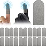 Frienda 20 Pieces Touch Screen Finger Sticker Game Finger Sticker Sweat-Proof and Breathable Screen Contact Sticker Full Touch Screen Sticker for Gloves