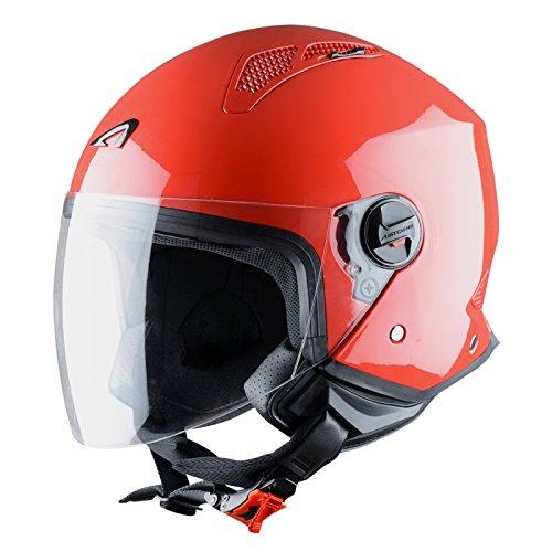 Astone Helmets Mini Jet Army Casco Jet, color Rojo, talla L