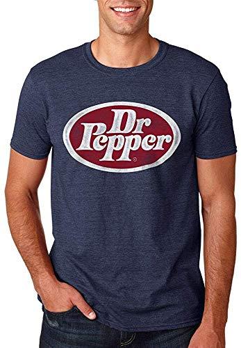 Coca Cola Dr. Pepper Vintage Oval Logo Hombres Camiseta