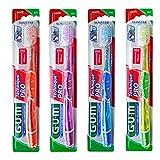 Cepillos de dientes GUM Technique PRO, cabezal Compacto, cedras Suaves, mango ergonómico, Multicolor (4 unidades)