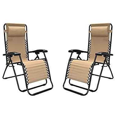 Caravan Sports - Two Pieces Infinity Zero Gravity Chair, Beige