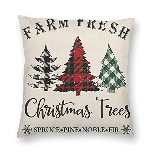 DESIGNS - Funda de cojín, diseño de árboles de Navidad, decoración para el hogar, para hombres, mujeres, niños, niñas, sala de estar, dormitorio, sofá de 60 x 60,9 cm
