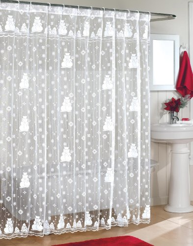 Snowman Lace Shower Curtain