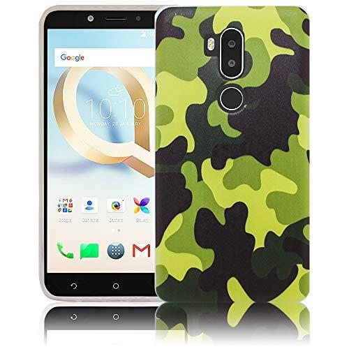 thematys Passend für Alcatel A7XL A7 XL 7071DX Camouflage Handy-Hülle Silikon - staubdicht stoßfest und leicht - Smartphone-Case