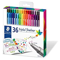 36 staedtler tri tip fine markers for basford coloring books