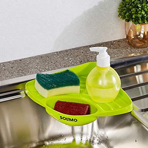 Amazon Brand - Solimo Kitchen Sink Organizer (Green)