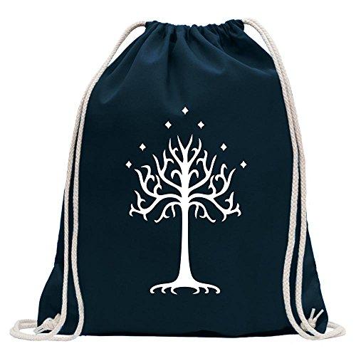 Kiwistar - der Weiße Baum Gondors Turnbeutel Fun Rucksack Sport Beutel Gymsack Baumwolle mit Ziehgurt