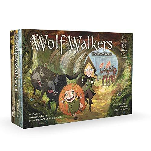 WolfWalkers Das Brettspiel - EIN originelles Abenteuer-Familien-Brettspiel - Einzigartig animierte Zauberwelt - Lustiges und fesselndes Brettspiel für Kinder ab 6 Jahren - Schöne Illustrationen
