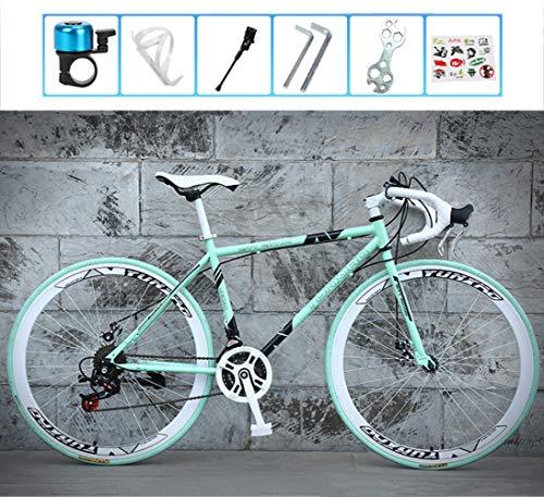 Legou 28 Zoll Mountainbike, Cyclocross Fahrrad, Rahmen aus Kohlenstoffstahl, Großer Reifen Vollfederung Mountain Bike,Cross Rennrad für Damen und Herren/A