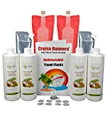 Fake Shampoo & Conditioner Bottles By CRUISE RUNNERS Hidden Liquor Smuggle Alcohol Flask Kit For Cruise | Booze Bags Enjoy Rum Runners