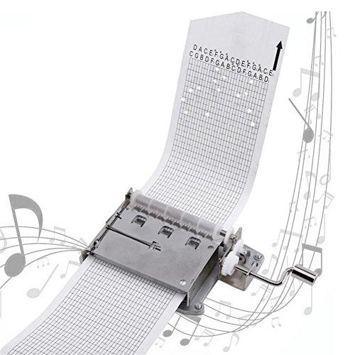 Valink - Carillon Meccanico, 30 Note Vuote Nastrini A Manovella, Movimento Carillon Meccanico + Perforatore + 3 Strisce Fai Da Te Le Tue Canzoni Carillon Meccanico, Decorazione Per La Casa - 26 X 2,75