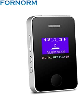 MP3 Player Speaker 1.1Inch Screen Sports Digital Compact and Portable Mini MP3 Max Support 16GB Micro SD Card with Charge ...