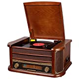KDMB Tocadiscos Vintage Tocadiscos fonógrafo Compatible con...
