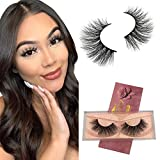GOO GOO Mink Lashes 18mm 3D Layered Effect Siberian Mink Fur False Eyelashes Natural Fake Eyelashes Hand Made Strips Eyelashes Reusable Make Up 1 Pair Type