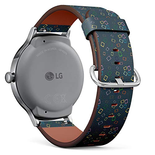 Compatible with LG Watch Style - Leather Watch Wrist Band Strap Bracelet with Quick-Release Pins (Smartphone Electronic Tablet)