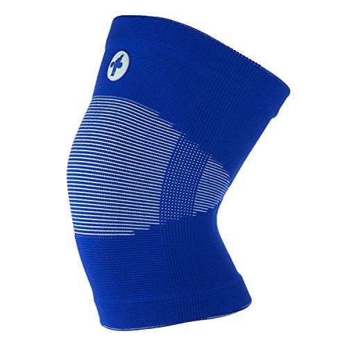 Knee Sleeves for Weightlifting, Crossfit, Chinese Style (Blue and White, Small)