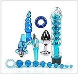 Z-one 1 7pcs Blue Set-Adult Spielzeug für Paare Sexy Anzug Plug Massage für Frauen Männer