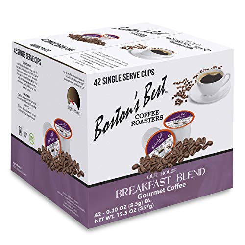 Boston's Best Single Serve K-Cup Coffee, Our House Breakfast Blend, 42 Count (Compatible with 2.0 Keurig Brewers)