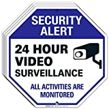 Video Surveillance Sign Outdoor   24 Hour CCTV Camera Surveillance Sign, Large 12x12 Rust Free Premium Aluminum, Weather/Fade Resistant, Easy Mounting, Indoor/Outdoor Use, Made in USA by SIGO SIGNS