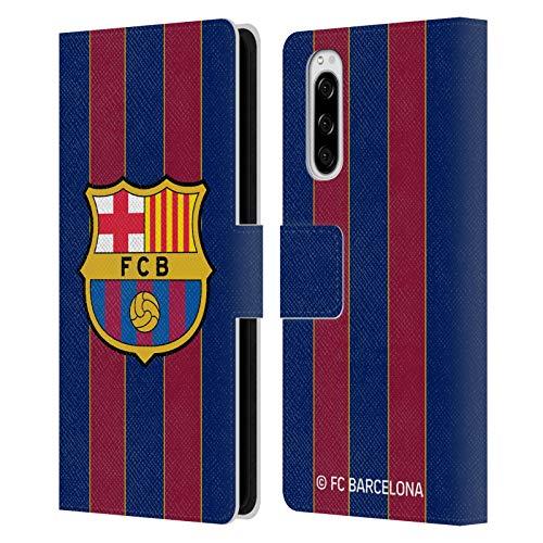 Head Case Designs Licenciado Oficialmente FC Barcelona Casa 2020/21 Kit de Cresta Carcasa de Cuero Tipo Libro Compatible con Sony Xperia 5
