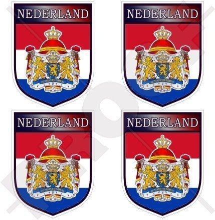 NIEDERLANDE Holland Niederlande NIEDERLÄNDISCHER Schild 50mm Auto & Motorrad Aufkleber, x4 Vinyl Stickers