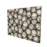 Sports Decor Baseballs Sport Emblem Major League Competition Softball Field Artwork Painting Premium...