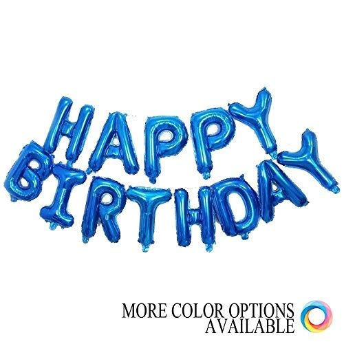 Grainee Happy Birthday Balloons Mylar Aluminum Foil Banner For Party Decorations And Supplies
