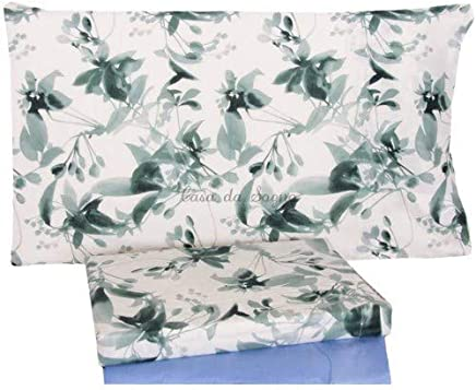 f94ef2250f Bassetti Set Lenzuola Matrimoniale 2 piazze Dream Carpet Fuxia Verde -  Matrimoniale (sotto 175x200 -