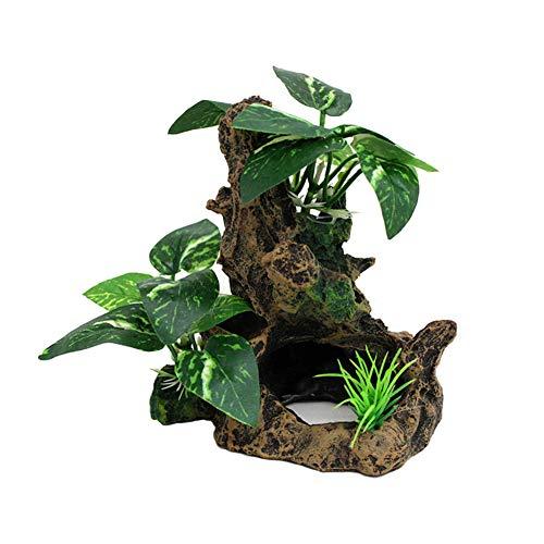 爬虫類テラリウムの装飾登り木 水族館の飾り物 魚飼育用の水槽の飾り生息地造園 植物 樹脂サンケン木材 隠れ家