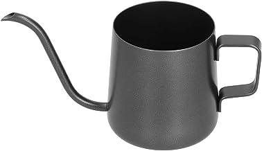 Hängande öronkruka med Svart Sprayfärg på Insidan och Utsidan Hand Kaffekanna 304 Rostfritt Stål Smal Munkruka för Hemmako...