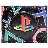 Cartera de Playstation Símbolos y Logotipo Coloridos Negro