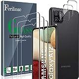 Ferilinso [6 Pack] 3 Piezas Protector de Pantalla para Samsung Galaxy A12 Cristal Templado + 3...