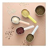 CNMDB Herramientas de Cocina Inicio Herramienta de la Cocina Cuchara de la Cucharada con el Clip de plástico, 4pcs Cuchara de Medida for la harina de café Proteína Frijoles Polvo de arroz Seasoni