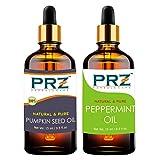 PRZ Combo of Pumpkin Seed Carrier oil & Peppermint Oil (Each 15ml)