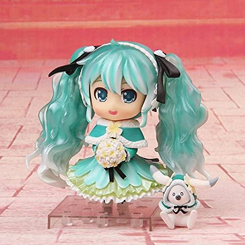 10Cm Anime Cartoon Hatsune Miku Toy Figure Snow Miku 047 PVC Collectible Model Boxed