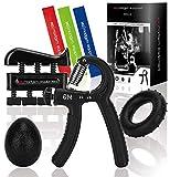 MadGym Equipment - Entrenador de manos - Entrenador de antebrazos, anillo de silicona, entrenamiento de mano, dilatador de dedos, pelota terapéutica - para antebrazos, muñecas y dedos, evitar lesiones