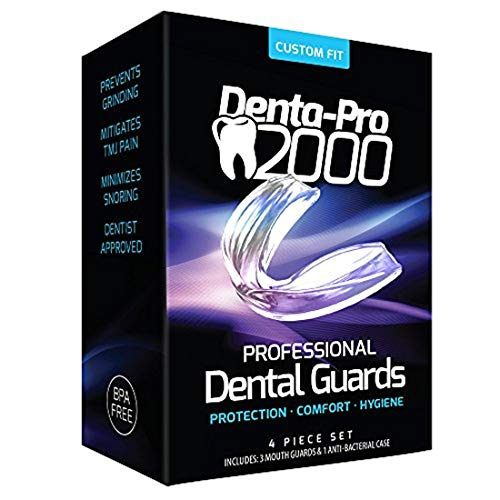 DentaPro2000 Teeth Grinding Mouth Guard Eliminates Grinding, Clenching, TMJ Set Includes 3 Dental...