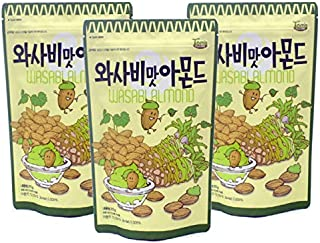 Korean Gilim Almond snacks (Gilim Wasabi Almond (pack of 3))