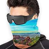 LLOOP Monument Canyon Colorado Sunset Mountains bufanda cuello calentador de cuello calentador de abrigo para esquí, senderismo, máscara facial, ciclismo, bandana y cuello