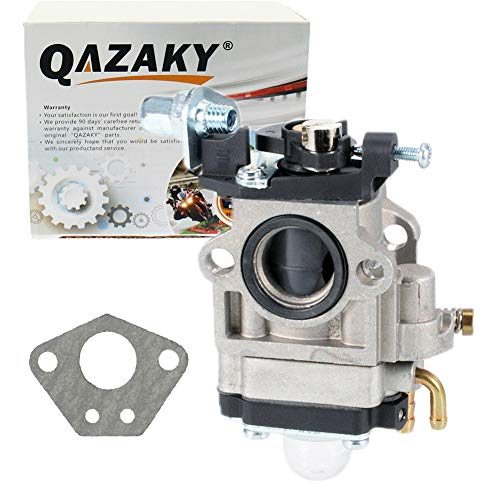 QAZAKY Carburetor Replacement for 33cc 43cc 47cc 49cc 50cc 2-Stroke Engines 15mm Intake Hole Dirt Pocket Rocket Bike ATV Scooter Mini Chopper Quad Hedge Trimmer Brush Cutter Blower Edger Cultivator
