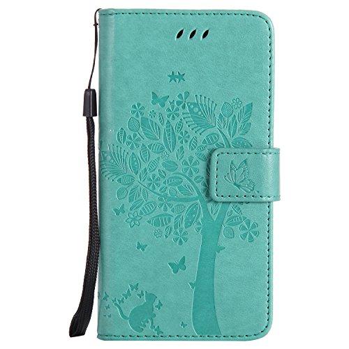 Nancen Compatible with Handyhülle LG Nexus 5X (5,2 Zoll) Flip Schutzhülle Zubehör Lederhülle mit Silikon Back Cover PU Leder Handytasche im Bookstyle Stand Funktion