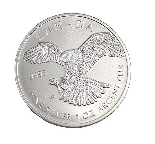 Kanada Silbermünze 1 Unze Falke Birds of Prey 2014