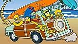 Los Simpsons Puzzle Madera 1000 Piezas Para Adultos Rompecabezas, Intelectual De Descompresión,Juguete Educativo, Regalo De Cumpleaños, 75 * 50 Cm Regalo De Año Nuevo
