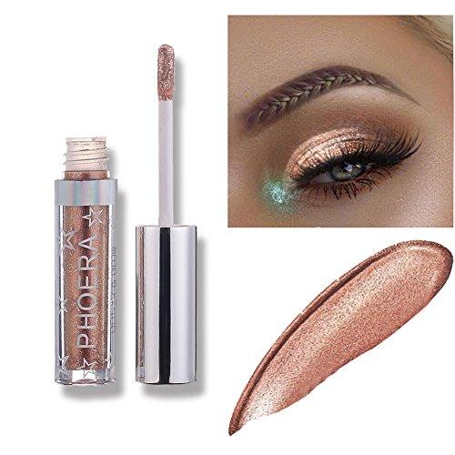 Liquid Eyeshadow Makeup Langlebige Shiny Glitter Wasserdicht Schimmer und Glanz Lidschatten-Aufkleber Metallic-Pigmente (A106)