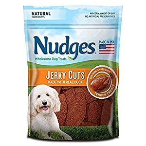 Nudges Natural Dog Treats Jerky Cuts Made with Real Duck