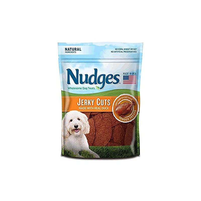 dog supplies online nudges natural dog treats jerky cuts made with real duck