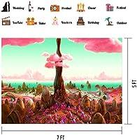 HDファンタジーキャンディランドスイートワールド背景ビニール7x5ft子供テーマパーティーバナー写真小道具BJLSPH44
