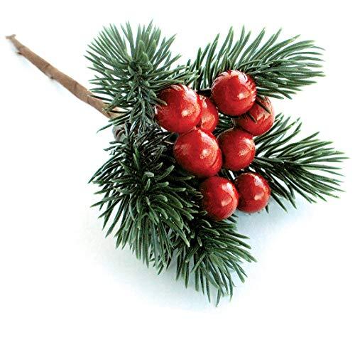 "HOLIDAYS GREENERY 30 STEMS 1"" PINE  BRANCH DIE CUTS CHRISTMAS."